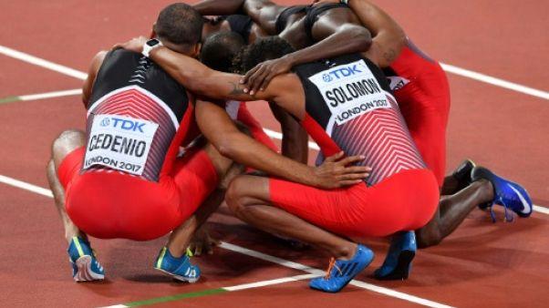 Athlétisme: les Trinidadiens décrochent leur premier titre sur 4x400 m