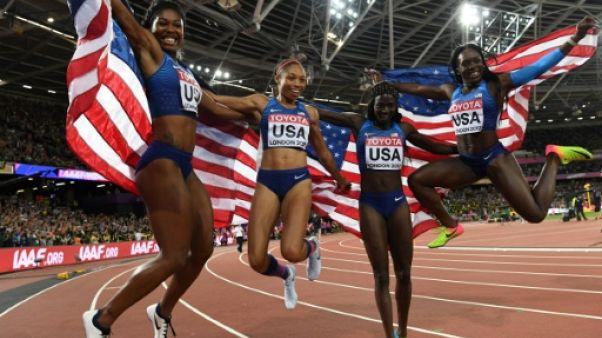 Athlétisme: les Etats-Unis et Felix au top