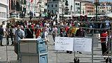 Venezia-degrado, fa pipì su muro Danieli