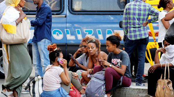 Refugees in Rome protest eviction, seek help from city hall