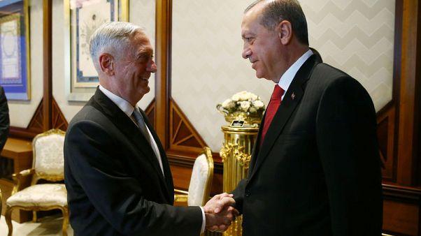 Erdogan conveys Turkey's unease over U.S. support for Kurdish militants