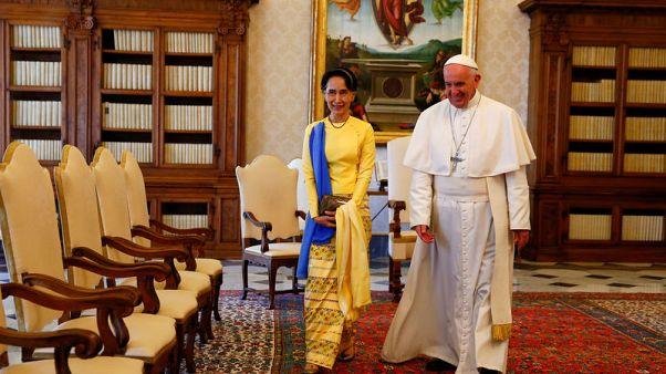 Pope due to visit Myanmar, Bangladesh, before Christmas - source