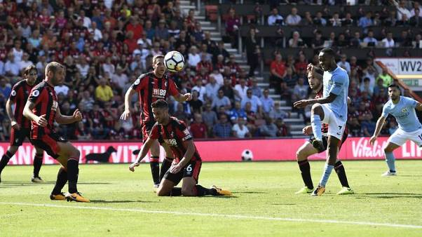 Soccer-Sterling grabs last-gasp victory for City, then sent off
