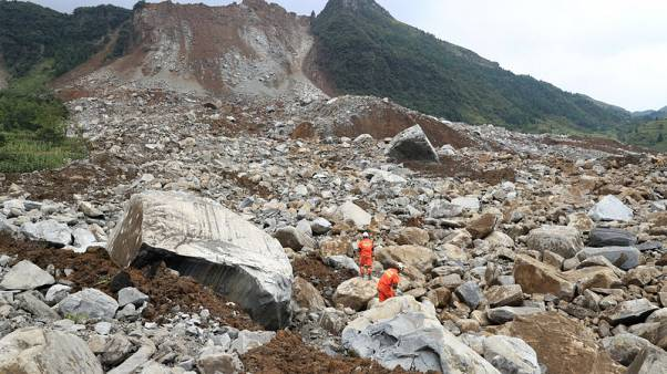 Mountain collapses on township in China's remote southwest, killing two