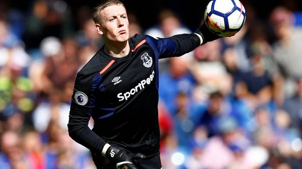 Goalkeeper Pickford out of England squad with muscle injury