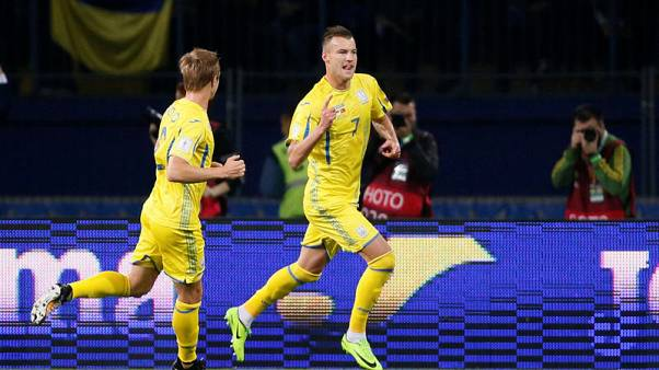 Soccer - Yarmolenko double for Ukraine sinks Turkey