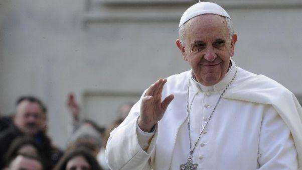 Papa: inizia viaggio in Colombia