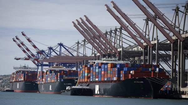 U.S. services sector growth accelerates; trade deficit edges up