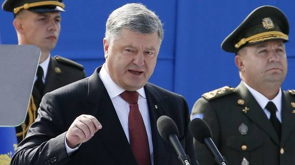 Ukraine president hopes to secure defensive weapons from Western allies