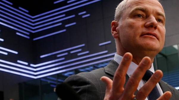 Deutsche Boerse's CEO says can't speculate about the future of his job