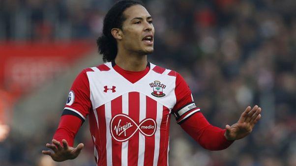 Van Dijk back in training with Southampton