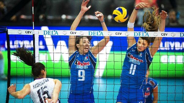 Volley: azzurre sconfitte da Azerbaigian