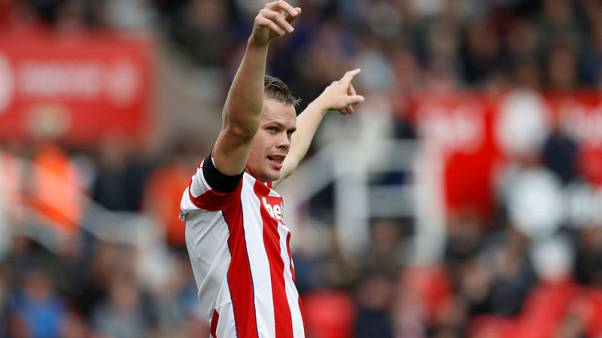 Stoke's Shawcross misses Man United clash with back injury