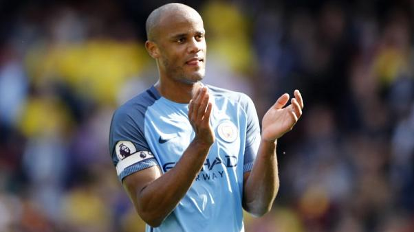 Man City's Kompany out of Liverpool clash with calf injury