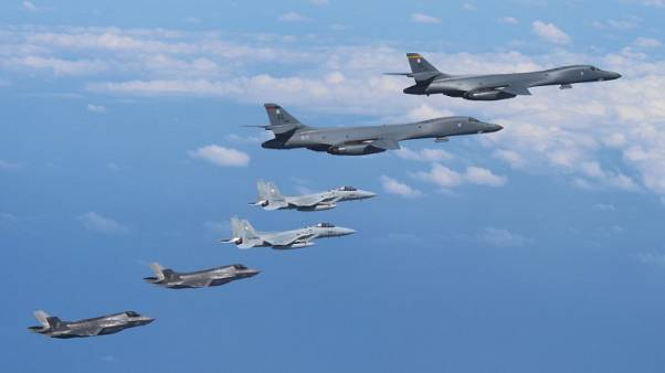 Japan says jet fighters conducted drills with U.S. aircraft over East China Sea