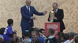 Putin, FIFA head send main soccer trophy on Russia tour before 2018 World Cup
