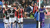 Ligue 1: Monaco chute lourdement à Nice, Amiens sort de la zone rouge