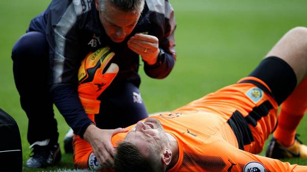 England's Heaton could face months out with suspected dislocated shoulder