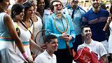 Stone lauds Billie Jean King at 'Battle of the Sexes' screening