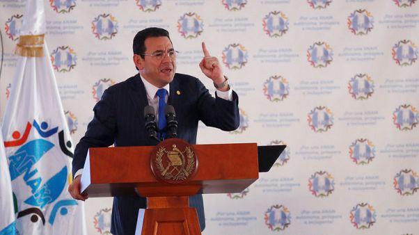 Guatemala Congress panel backs ending president's immunity over probe