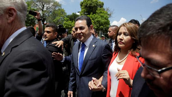 Guatemala Congress panel backs ending president's immunity over probe