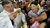 Roma seek luck and love at Catholic shrine in Hungary