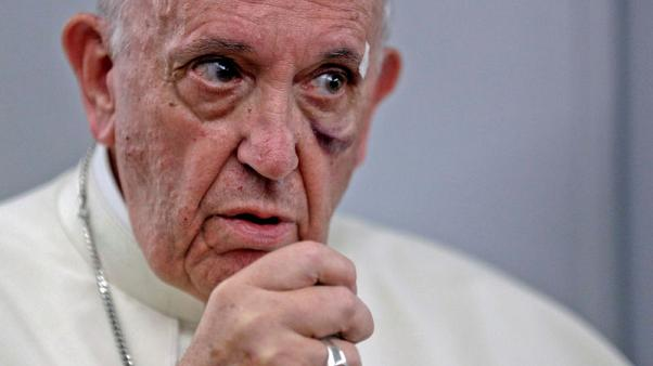 Pope says humanity will 'go down' if it does not address climate change