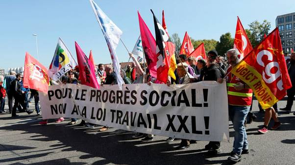 Macron's labour reforms face protests across France