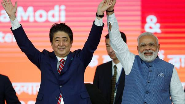 Japan's Abe to launch $17-billion Indian bullet train project as ties deepen