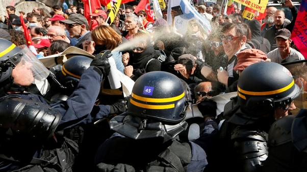 Riot police, hooded youths clash in Paris at labour reform protest