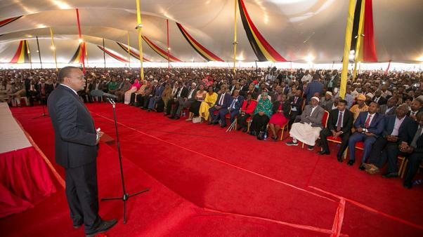 Opposition stays away as Kenyatta warns against 'destructive division'