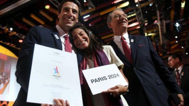 """JO-2024 à Paris: """"victoire magique"""" pour Estanguet, """"bonheur immense"""" pour Hidalgo"""