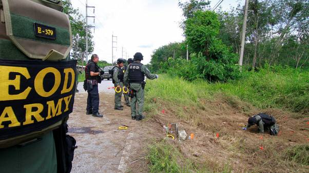 Roadside bombs wound 20, kill soldier in Thailand's troubled south
