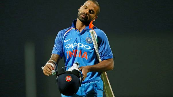 India opener Dhawan to miss first three Australia ODIs