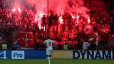 UEFA charges Spartak Moscow after flare narrowly misses referee