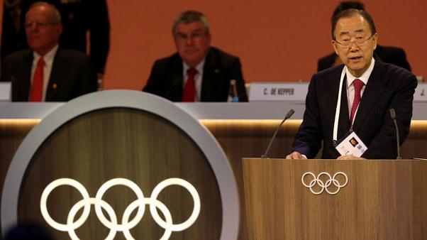 Former U.N. chief Ban heads IOC ethics amid ongoing probes