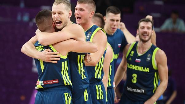 Sharp-shooting Slovenia shock Spain in Eurobasket semi