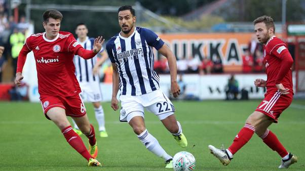 West Brom's Chadli, Burke doubtful for West Ham game