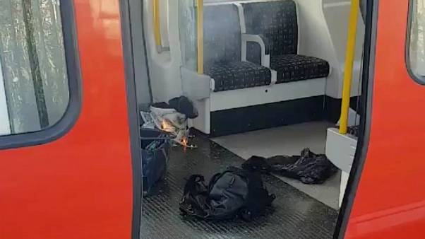 Several hurt in 'terrorist' incident on London underground train