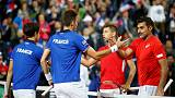 Nervous Pouille loses to Lajovic as France fall behind Serbia