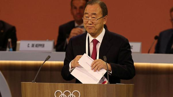 Ex-U.N. chief Ban expects safe Pyeongchang 2018 despite nuclear tension