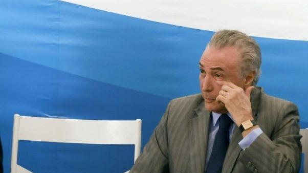 Brésil: la capacité de survie de Temer à nouveau mise à l'épreuve