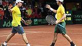 Coupe Davis: l'Australie aux commandes face à la Belgique en demies