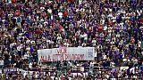 Striscione per Livorno dei tifosi viola