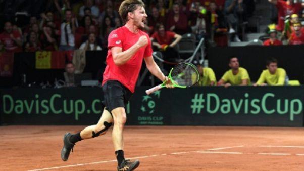Coupe Davis: la Belgique égalise à 2-2 face à l'Australie