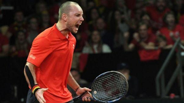 Coupe Davis: la Belgique rejoint la France en finale