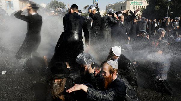 Ultra-Orthodox protesters arrested in violent clash in Jerusalem