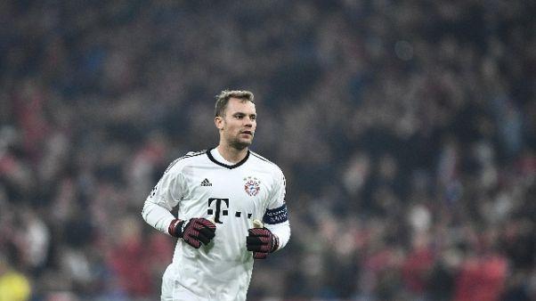 Bayern: nuovo infortunio per n.1 Neuer