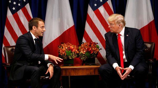 Trump talks Paris agreement, Iran with France's Macron - official