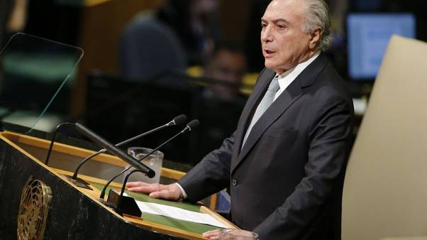 Brazil's Temer at U.N. decries rise in nationalism, protectionism